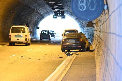 Torsdag ettermiddag smalt det i Bjørgetunnelen.