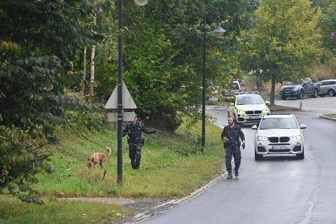 Væpnede styrer leter etter en gjerningsperson i Åros.