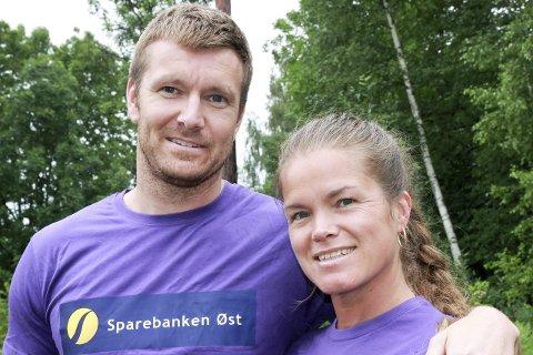 Sine Frodin og Petter Koch er aktive med i Hokksund by og laksefestival