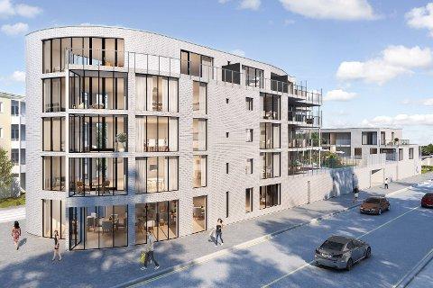 Snart byggestart: Salget av leilighetene  ved Munkhaughjørnet har gått over all forventning etter salgsstarten i august måned. I løpet av noen uker vil trolig utbyggingen starte.