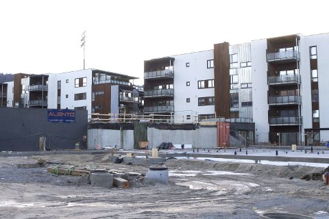KLARE OM ETT ÅR: Grunnarbeidene til tredje byggetrinn av Stadionkvartalet er unnagjort. Om ett år – i desember neste år – skal 29 leiligheter være innflytningsklare.