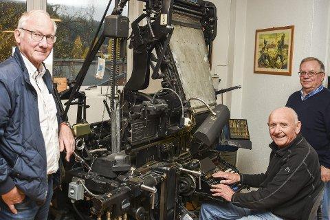 GRAFIKERE: – Jeg er blitt museumsgjenstand, fleiper Ivar Folke Johansen (i midten). Sammen med Egil Solberg (til v.) og Even Hoen.