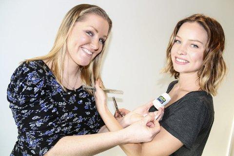 Familiebedrift: Søstrene Merethe Hagen (t.h) og Helene Helgheim har startet Diamant helse. Som henholdsvis frisør og sykepleier satser de fremtiden på eldre innbyggere i Eiker-distriktet.