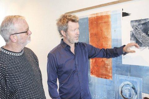 Venter stor tilstrømming: Gallerieier Walter N. Welo og kunstner Magne Furuholmen gleder seg til åpningen av «Texture» lørdag. Da ventes det folkevandring til Steinberg - og Gulden Kunstverk.