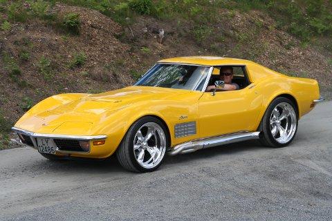 PUBLIKUMSPRISEN: Ronny Løvheim vant publikumsprisen med sin Corvette Stingray 71-modell.