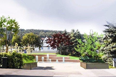 FLOTT: Det blir plantet ny vegetasjon som vil både danne åpne og intime rom.