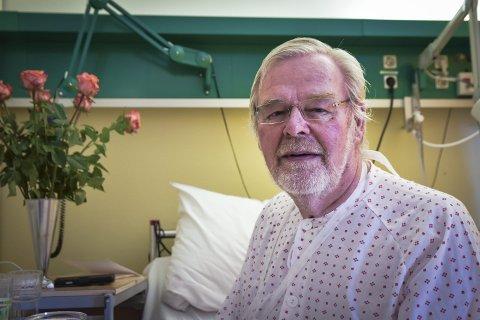 Sykehus: Trond Bollerud er takknemlig for all hjelp han har fått, både av ukjente, kjente og de som jobber på sykehuset.