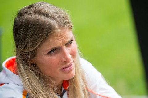 Therese Johaug under et pressetreff med langrennslandslaget for kvinner. Foto: Fredrik Varfjell / NTB scanpix