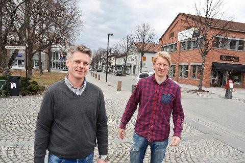 Frank Abelsen (t.v.) og Ola Kvale i Partum Eiendom.