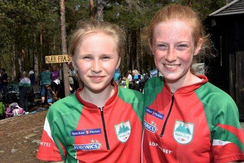 RASKEST OG NEST RASKEST: Modum-jentene Annabell Aunmo Kjellevoll (til v.) og Hedda Kind Kjellevoll bytter på å vinne i klasse D 13-16 C.