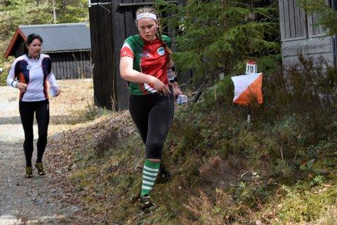 PÅ VEI TILBAKE: Johanna Sofie Longfjeld på siste post. Hun er ikke misfornøyd med 14. plass - ut fra at hun kun har fått trent en måned i løpet av de siste halve året.