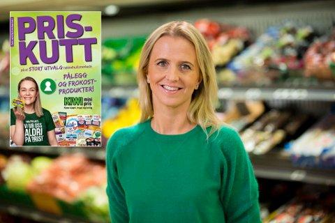 PRISKUTTER: Kiwi gjør det fjerde priskuttet på ti måneder. Her kommunikasjonssjef Kristine Aakvaag Arvin i Kiwi.