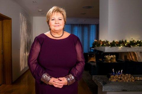 FLERE BARN: I sin nyttårstale valgte statsminister Erna Solberg (H) å formane Norges befolkning til familieforøkelse.