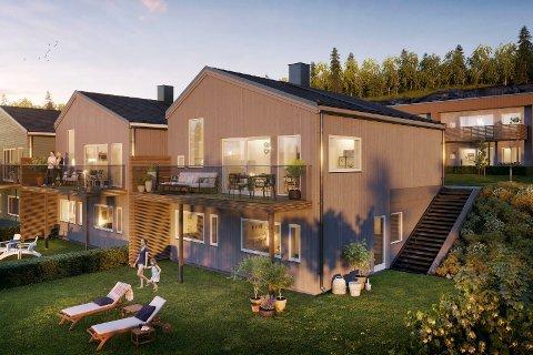 INSENTIV: Block Watne har inngått et samarbeid med Vikåsen IL for å få fart på salget av boligene på Hvitveisbakken i Mjøndalen.