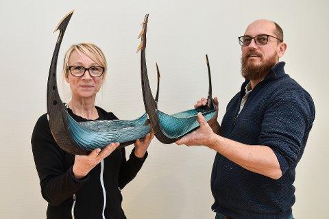 ETTERSPURTE: Nanna Backhaus Brown og Andrew Browns første utstilling i Norden utenom Danmark åpner i Hokksund lørdag. Utstillingen har de sammen med Mette Bentzen og Lasse Kristiansen.