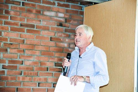 Tor Horgen Ellingsen under stiftelsesmøte til For Nedre Eiker 7. juni 2018.