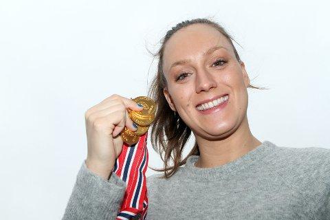 SATSER: Stine Lise Stenseth har en drøm om å svømme 200 meter fri under OL i Tokyo til sommeren, men mangler noen få sekunder på å greie kvalifiseringskravet.