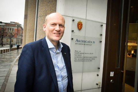 FORTSETTER: Anders B. Werp (H) fikk fornyet tillit og fortsetter som statssekretær i Samferdselsdepartementet under Knut Arild Hareide (Krf).