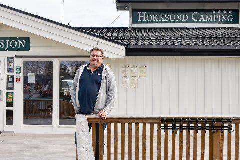 REKORD: Audun Wang på Hokksund camping har også fått merke pandemien, også på en svært hyggelig måte.