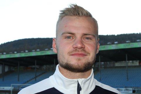 REHABILITERES: Hokksund-gutten Herman Stengel som spiller for Strømsgodset, har vært gjennom en lyskeoperasjon.