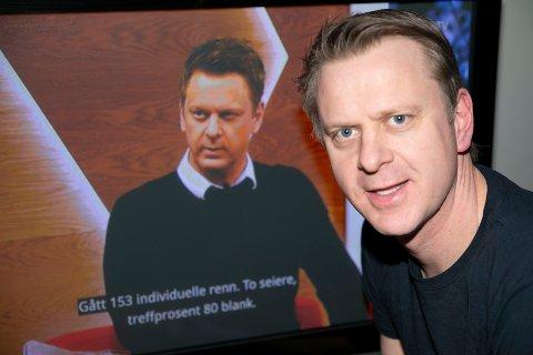TV-FJES: Ole Kristian Stoltenberg var å se på TV i vinter i forbindelse med verdensmesterskap i alpin, skiskyting og ski.