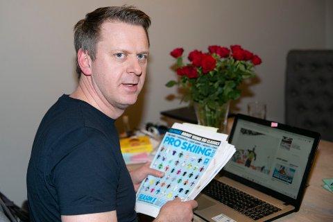 FORBEREDER SEG: Ole Kristian Stoltenberg har brukt notater og hentet kunnskap fra internett for å forberede seg på hektiske TV-dager i forbindelse med tre verdensmesterskap i løpet av fire uker.