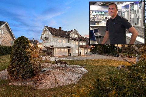 SELGER: I 1997 bygde Robert Holtungen denne eneboligen i Vestfossen sammen med kona Jorun Grødum Holtungen. Nå flytter de.