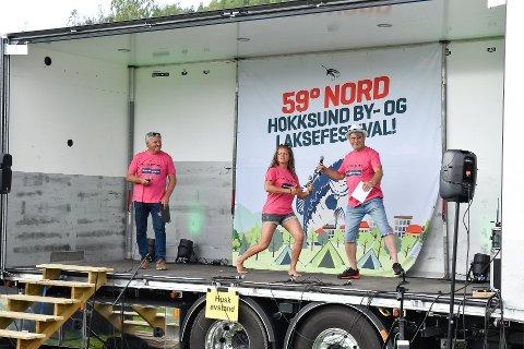 FULL FART: Ordfører Knut Kvale, Sine Frødin og Stein Strand åpnet festivalen på Harakollen i 2020.