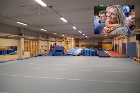 TURNLOFTET: Nå kan turnerne i Mjøndalen trene på turnloftet igjen etter et år uten et sted å trene.