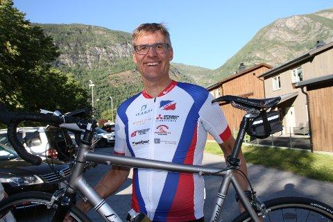 HELDIG: Lars Petter Moe var heldig da det først gikk galt i stor fart i Jotunheimen rundt på sykkel.