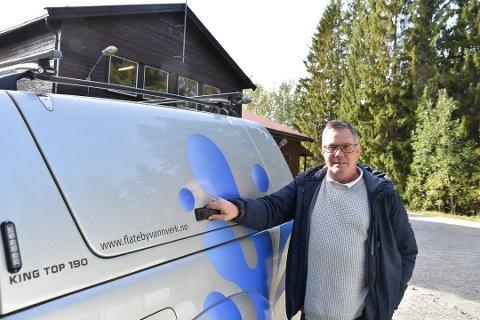 Frank A. Jenssen er daglig leder for Flateby vannverk.