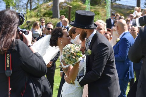Iselin Myhre og Anders Sandvik Fredriksen fra Ytre giftet seg på Spiker´n ved Lyseren i pinsen 2018.