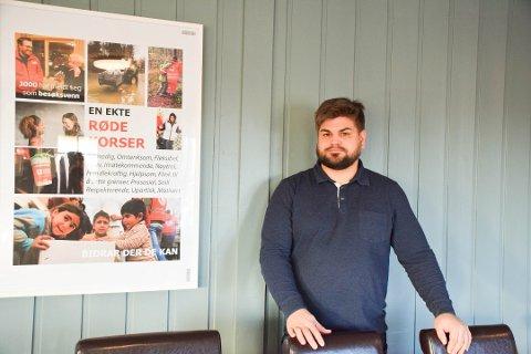 Lederverv: Tidligere i år skrev Enebakk Avis om Thomas Sunnes etterlyste en ny leder til Enebakk Røde Kors - nå har han selv tatt på seg oppgaven.