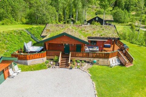 BUDKAMP: Denne hytta i Skrukkelia i Hurdal fikk mange til å øke sitt bud.