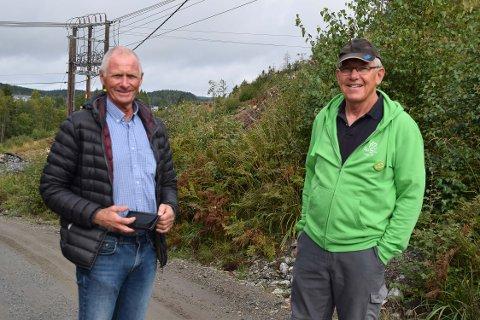Nils-Petter Wiik (t.v.)  og Thorvald Ungersness.