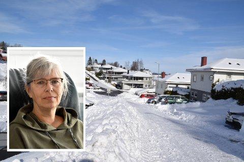 - Kommunen gjorde et kjempesjakktrekk med å legge dette på brøytingen, og ikke veien, sier Ellen Mallaug på Flateby.