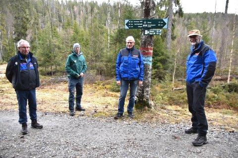 Fra venstre Eiler Rüsing, Dag Olav Brækkan, Per Erik Kristiansen og Johan Ellingsen.