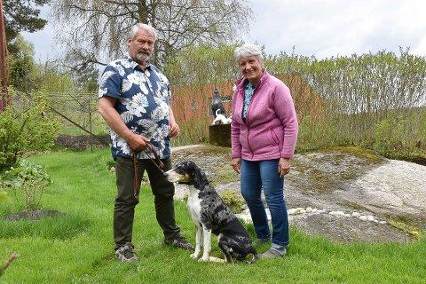 Grethe og Kjell Sterner  sammen med Tyr.
