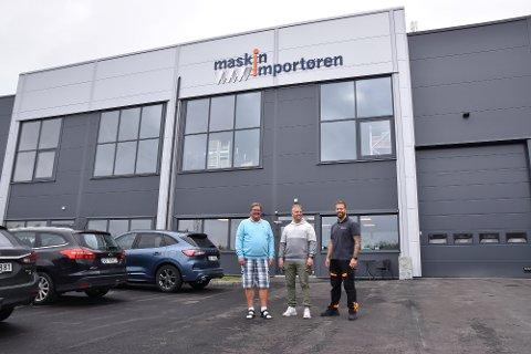 F.v.  Jan Ole Gabrielsen, daglig leder, Preben Kjos Gabrielsen, markedssjef og Christofer Kjos Gabrielsen, kommunikasjonssjef.