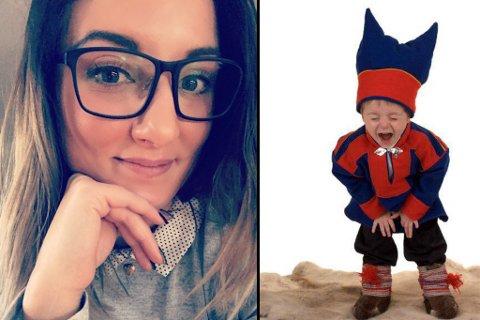 FORBANNA: Mari Iren Pedersen ble forbanna da hun oppdaget at bildet av sønnen ble brukt som et virkemiddel i en Facebook-post som var nedlatende mot samer og homofile.