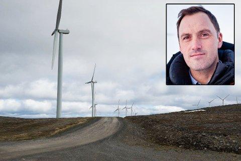 Havøygavlen: Egon Leonardsen, administrerende direktør i Finnmatk Kraft ser frem til videreutvikle en ny vindpark.