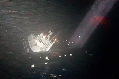 GIKK NED: Båten var ikke til å redde.