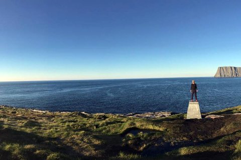 Knivskjellodden er et eksempel på en veletablert turløype på Magerøya, hvor man finner informasjon om denne i mange kanaler.