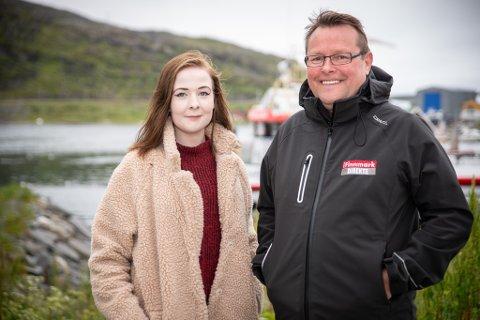 KLAR FOR HONNINGSVÅG: Anna Lindbach og Trond Ivar Lunga er programledere under iFinnmarks valgturnè.