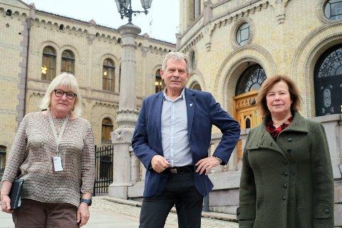 Ingalill Olsen fra Ap, Arne Nævra i SV og  Senterpartiets Siv Mossleth kommer med motsvar til FrP.