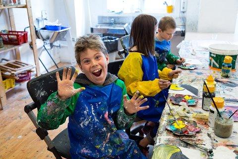 Trondheim 13.05.2013 : Kulturskolen er 40 år. Bilder til Kulturskolerådets jubileumsbok. Visuell kunst og teater i Gregus gt. Foto Thor Nielsen