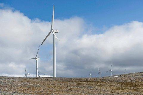VINDMØLLEMOTSTAND: De færreste Finnmarkinger vil har flere slike vindmøller i sin nærhet. En ny meningsmåling viser at et klart flertall er negativ til at det skal bygges flere vindmøllerparker i Finnmark. Bildet er fra Havøygavlen i Måsøy.