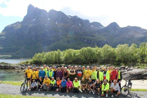 Laurdag 30.mai er det klart for årets Tour de Bremanger. Her med Hornhelen i bakgrunnen. Alle Foto: Privat