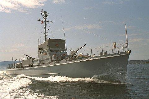 "KNM ""Hitra"". Ei gåve frå USA til den norske marine i 1943."