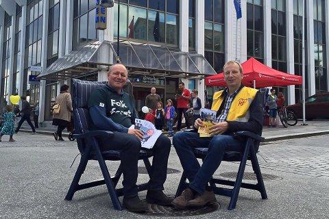 Jan Henrik Nygård (V) og Gustav Johan Nydal (KrF) stiller begge for å ta ordførarklubba.